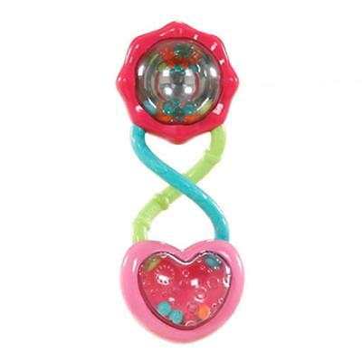 Bright Starts Pretty in Pink Barbell Rattle / Teeher