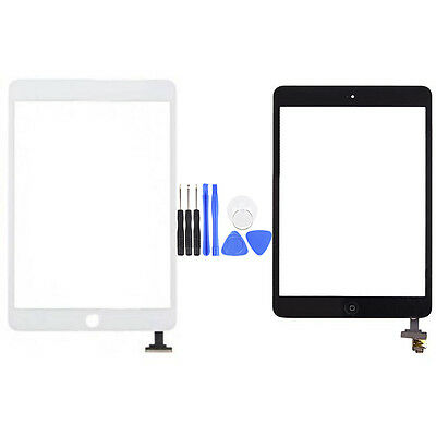 1 For iPad Mini 1&2 Glass Digitizer Touch Screen with IC Connector Flex Assembly