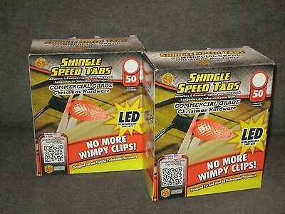 Shingle Speed Tabs Christmas Gutter Light Hooks Commercial Grade 2 Boxes