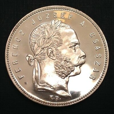 - Rare 1868 Hungary Franz Joseph One Forint Proof Restrike - only 1,000 Minted