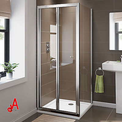 New Semi Frameless Shower Screen Enclosure Bifold Door with Glass Panel Cubical