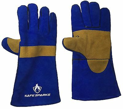 WELDING GLOVES by US Safe Sparks - EXTREME HEAT RESISTANT - Reinforced Palm