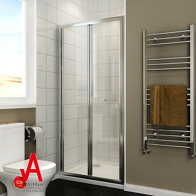 800/860/900/1000mmX1900mm New Shower Screen Enclosure Bifold Door Wall to Wall