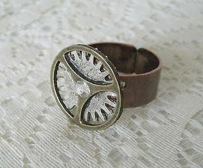 Steampunk Ring, handmade jewelry fantasy victorian edwardian cosplay gothic gear