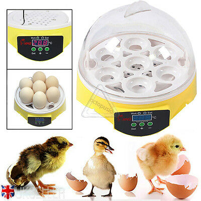 Digital Automatic 7 Eggs Incubator Chicken Duck Goose Poultry Hatch Hatcher UK