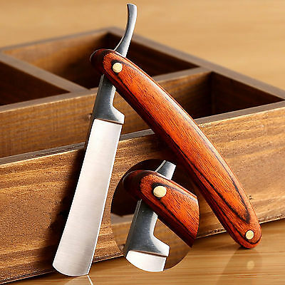 Hot Stainless Steel Straight Edge Men Razor Blades Barber Folding Shaving Knife