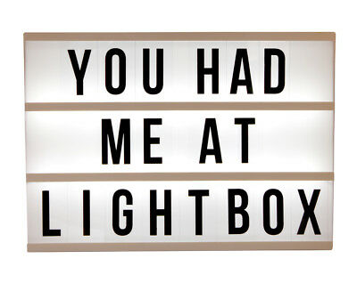Lightbox Display Sign Board 85 Number and Letters A3 Home Decor Lights