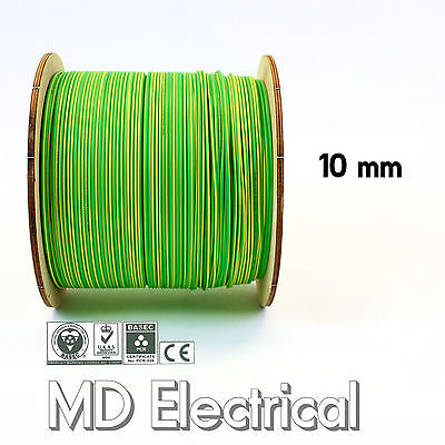 10 mm Single Core Conduit Cable 6491X Earth Yellow / Green Equipotential Bonding