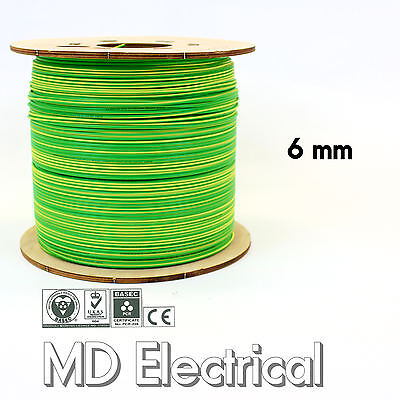 6 mm Single Core Conduit Cable 6491X Earth Yellow / Green supplementary Bonding
