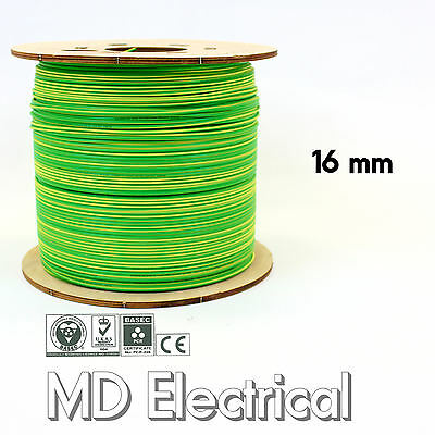 16 mm Single Core Conduit Cable 6491X Earth Yellow / Green Equipotential Bonding