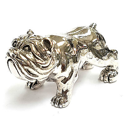 Collectable Victorian Style Bulldog Figurine Dog 925 Sterling Silver