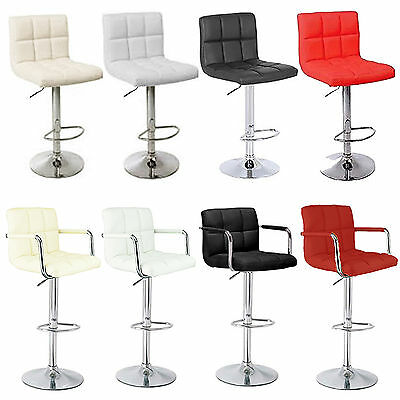 CUBAN & MIAMI Bar Stools Pub Barstool PU Swivel Faux Leather Breakfast Kitchen