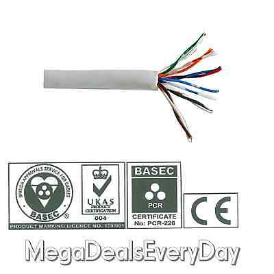 Telephone Extension Lead Cable RJ11 6 Core 3 Pair White PVC Insulated