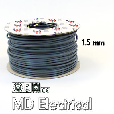 1.5 mm Single Core & EARTH Electrical Cable 6241Y Blue / Grey PVC PVC Wire