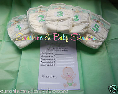 Dirty Nappy Baby Shower Game NAME THAT POO! Boy Girl Neutral INCLUDES NAPPIES!