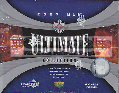 2007 Upper Deck Ultimate Collection Baseball Mlb Factory Sealed Hobby Box New!!!
