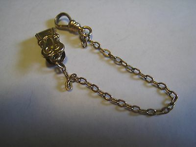 "Vintage Marked ""S.O.B. & CO."" Gold Tone Pocket Watch Chain, 5 1/2"""