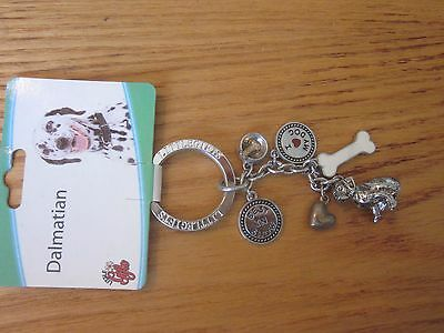 Dalmatian Dog Little Gifts Key Chain Ring With Charms