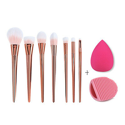 7pcs Pro Makeup Brushes Set Powder Eyeshadow Foundation Eyeliner Lip Brush Tool