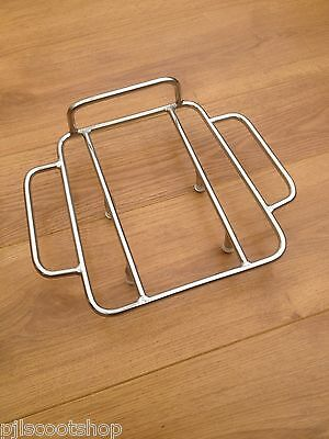 Lambretta S/3 Li -Gp-Sx-Tv Sebring Stainless Steel Rear Strint Rack.brand New