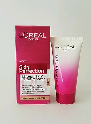 Loreal Skin Perfection BB Cream 5 in 1 instant Perfector light  50 ml Tube