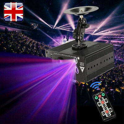 Mini 48 Patterns Laser Projector Stage Lighting LED RGB Lights Party DJ Disco UK