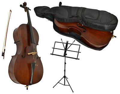 New - Sotendo Full Size Student Cello with Music Stand and soft case