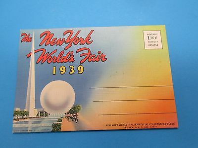 Vintage Souvenir Postcard Folder 1939 New York World`s Fair S219