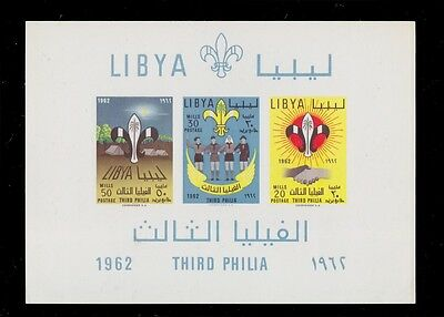 1962 LIBYA SCOUTS THIRD LIBYAN SCOUT MEETING PHILIA NEVER HINGED Sc. 124a
