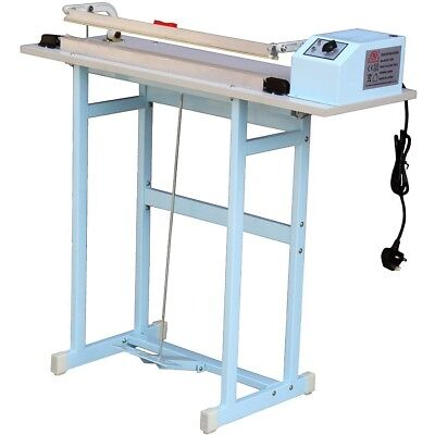 "24""/60C/M600Mm Foot Pedal Impulse Film Heat Sealer Sealing Machine With Cutter"