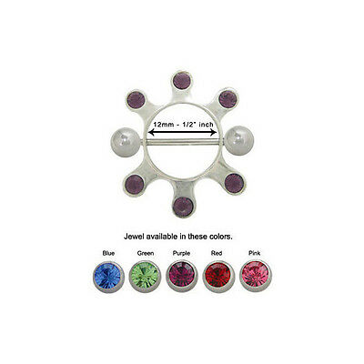 Nipple Guard with Colored Jewels