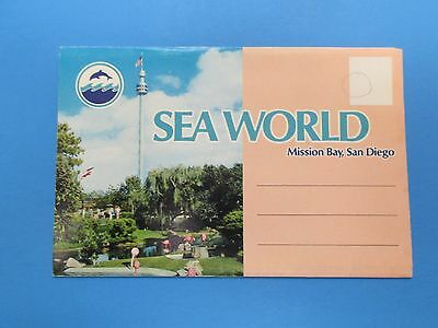 Vintage Souvenir Postcard Folder Mission Bay, San Diego Sea World S298