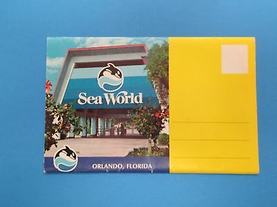 Vintage Souvenir Postcard Folder Orlando, Florida Sea World S299