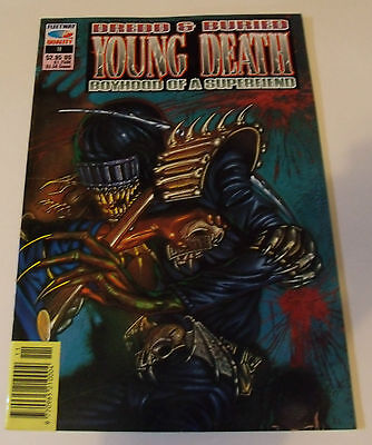 JUDGE DREDD, DREDD & BURIED YOUNG DEATH BOYHOOD SUPERFIEND No 10 Comic 2000AD