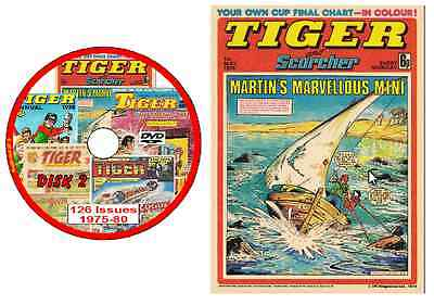 Tiger Comics 126 issues 1975-1980 on DVD (offers available - see listing) DVD2