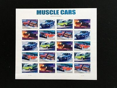 U.s: #4743-47 Forever Muscle Cars Mint Sheet/20 Nh Og