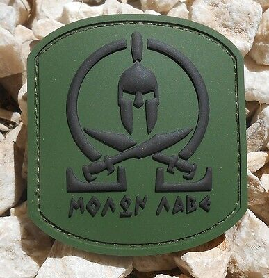 3D Pvc Molon Labe Spartan Tactical Us Army Morale Od Green Forest Hook Patch