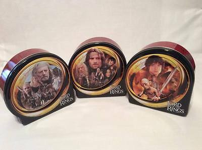 Set of (3) 2003 Hasbro Lord of the Rings 500 Pce Puzzles Collectors Tin Complete