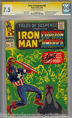 Tales Of Suspense #82 Cgc 7.5 Ss Stan Lee Signed 2Nd Highest Graded #1116981021