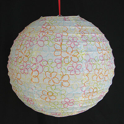 "2 of 12"" Chinese White Paper Lanterns with Pictures"