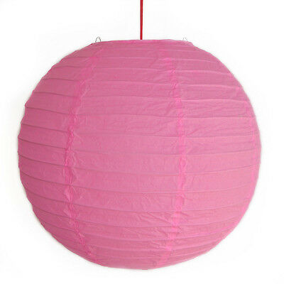 "2 of 12"" Chinese Pink Paper Lanterns"