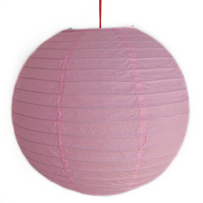"2 of 12"" Chinese Light Pink Paper Lanterns"
