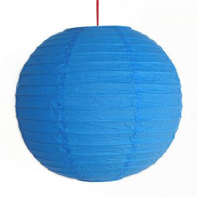 "2 of 12"" Chinese Blue Paper Lanterns"