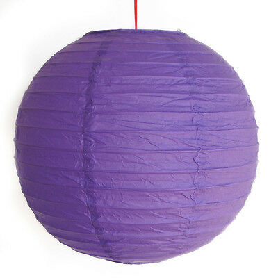 "2 of 12"" Chinese Purple Paper Lanterns"