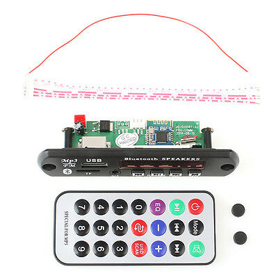 12V Car FM Radio LED Bluetooth MP3 WMA Decoder Car Board Audio Module USB