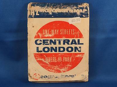Vintage Geographers One Way Streets Map Central London Where To Park