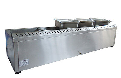 5-Pan Natural Gas Bain-Marie Buffet Food Warmer Steam Table 56inch
