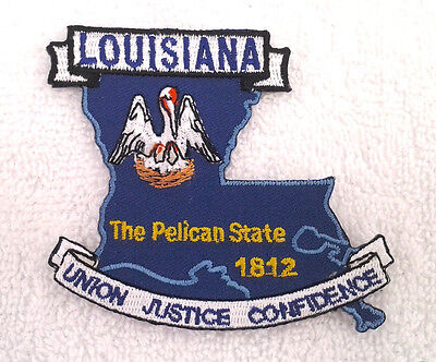 *** LOUISIANA STATE MAP *** Biker Patch PM6719 EE