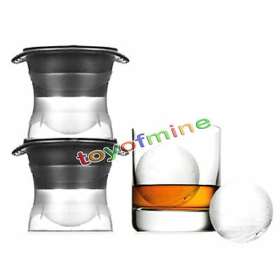 Ice Ball Cube Maker Sphere Mold 2.5 INCH Round Jelly Mould Cocktail Whiskey