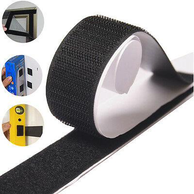 20mm /50mm Sticky Back Self Adhesive Hook and Loop Tape BLACK or WHITE  5/10 M